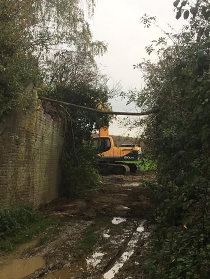 La passerelle du Fourçon a été démolie ce 6/11/2019
